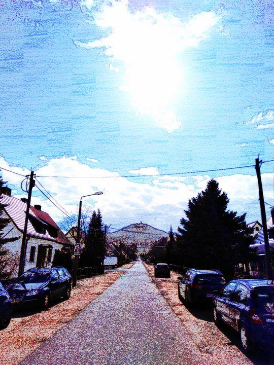 road to  Landeskrone - EUGENE  JONAI