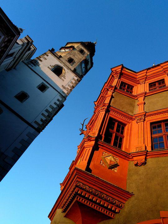 town hall tower - EUGENE  JONAI