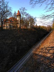 Villa near railroad