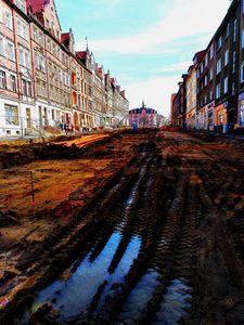 dirt  mud street