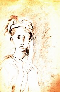 boy with headscarf
