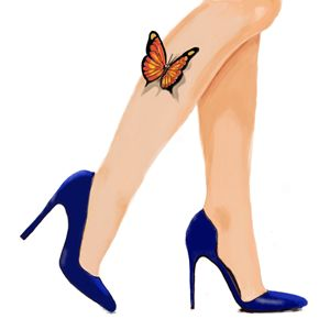 Butterflies and blue shoes