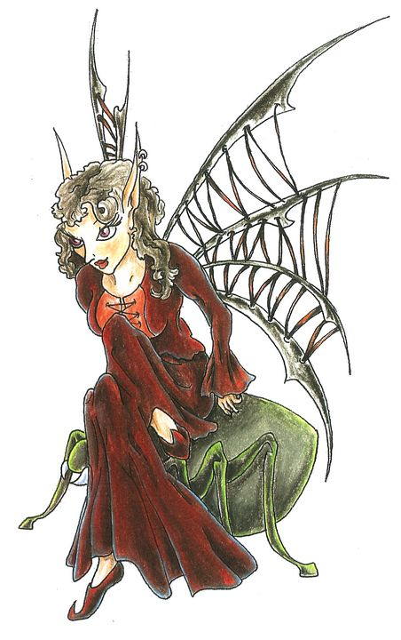 44683335f2162 Dark Fairy - inkspiredesign - Drawings & Illustration, Fantasy ...