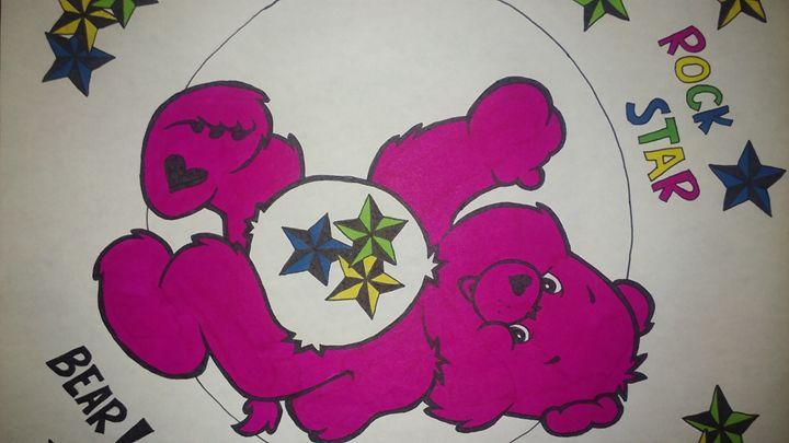 pink bear - Amanda's ART