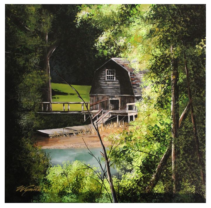 Boat House at Concord - Wynne Fine Art