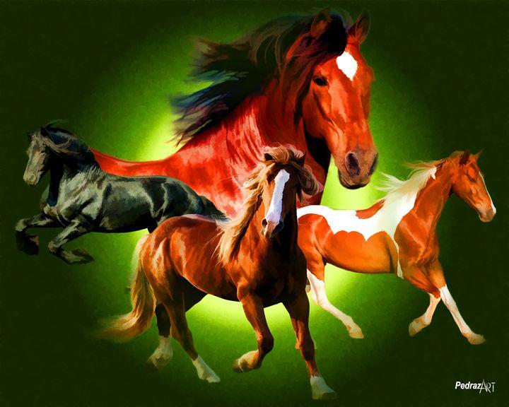 Pretty Horses - PedrazArt Graphic Designs