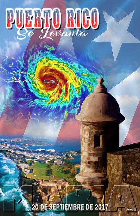 Huracan Maria en Puerto Rico - PedrazArt Graphic Designs