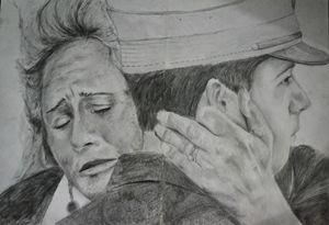 The grieving woman