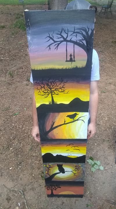 6ft free-hand painting - Amanda