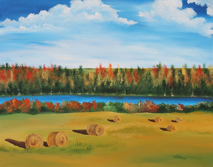 Changing colors at the lake - Wendy Tucci Art