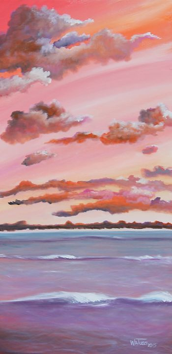 Purple Wave at Sunset - Wendy Tucci Art