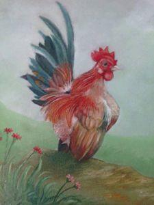 ayam jago - Mas Tok paint art
