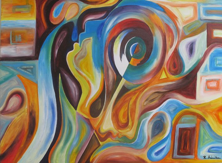 Abstract Heads - Mónika Hóbor