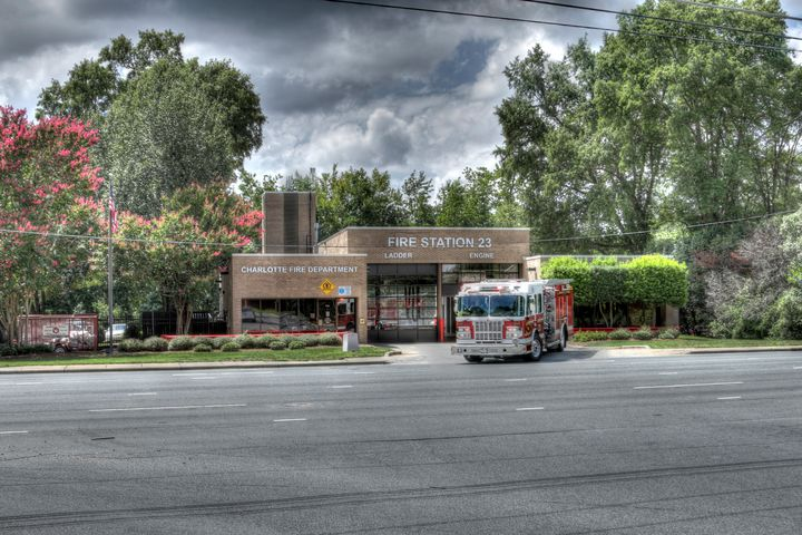 Fire Station 23 - Views Of Charlotte by CarlMillerPhotos.com