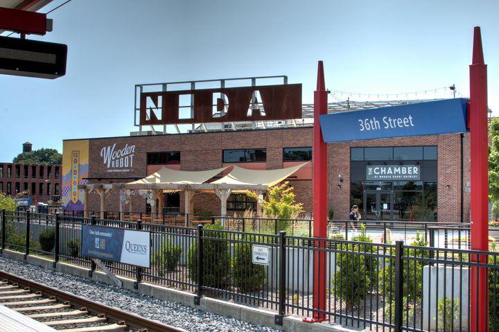 36th Street Light Rail Stop at NoDa - Views Of Charlotte by CarlMillerPhotos.com