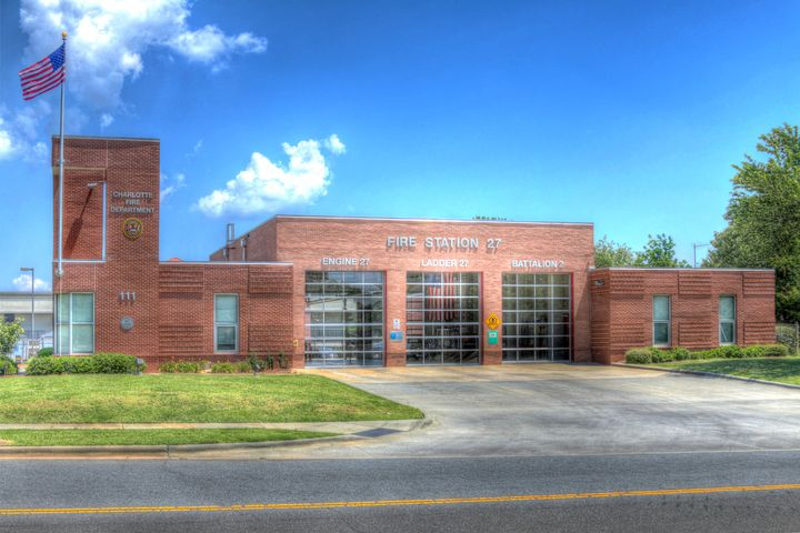 Charlotte Fire Station 27 - Views Of Charlotte by CarlMillerPhotos.com