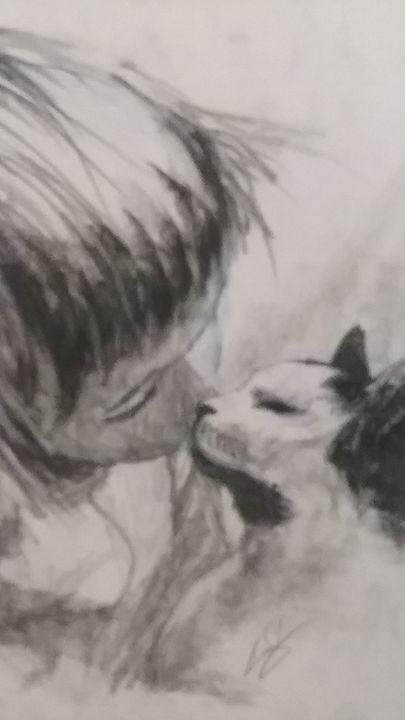 Kissing kitty - BlueCoal