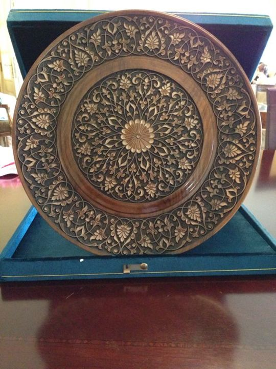 A hand crafted wooden plate - Hand Made Craft
