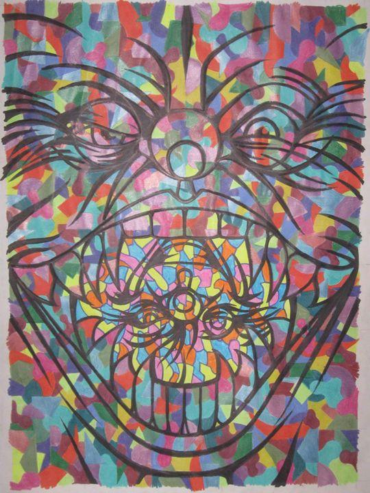 clown eats clown upside down - VADR-visceral art and design