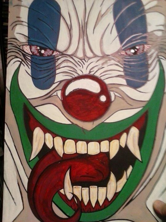 evil clown - VADR-visceral art and design