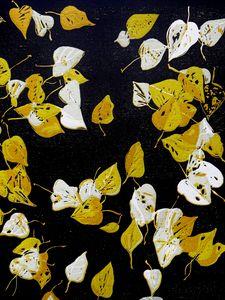 Leaves on Tarmac, Original Print