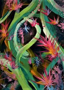 Green and Pink Dance - Brian Edward Gallery