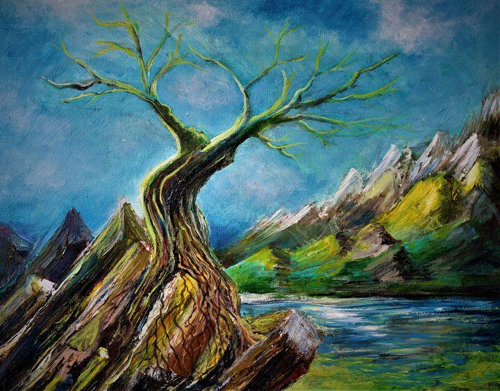 Rock Tree Moon - Brian Edward Gallery