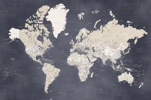 Glyn world map distressed and detail