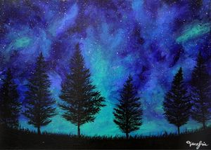 Starry Night (Acrylic on Canvas)