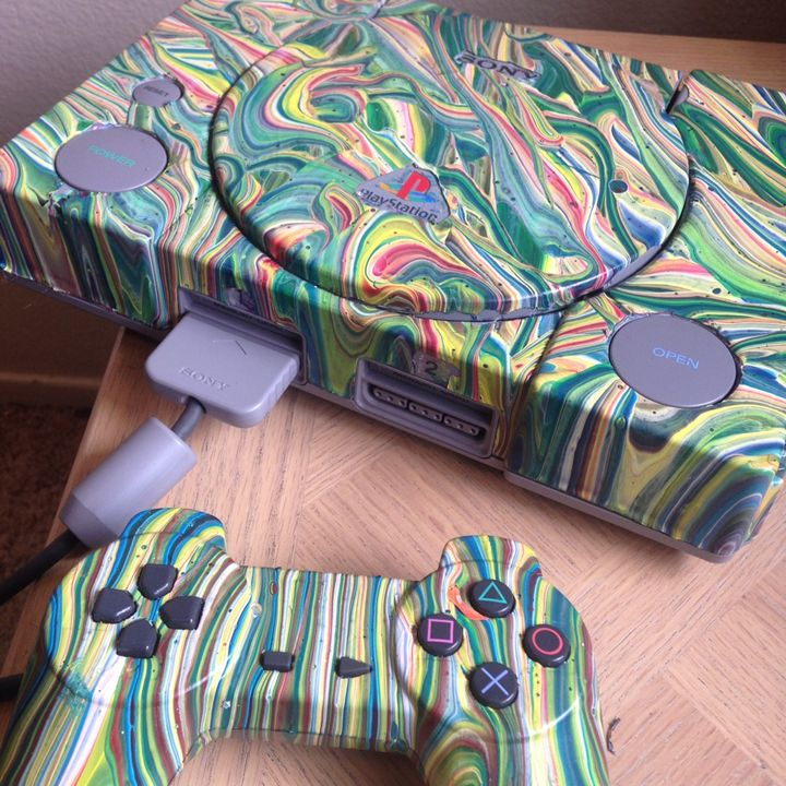 Hand Painted PlayStation NothisisArt - No This Is Art