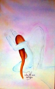 Abba Father Worshipping Angel