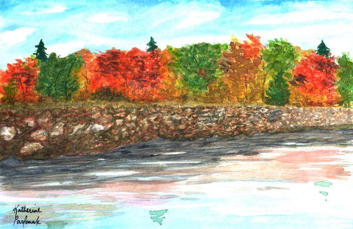 lake edge in autumn - SheepyShakeShack