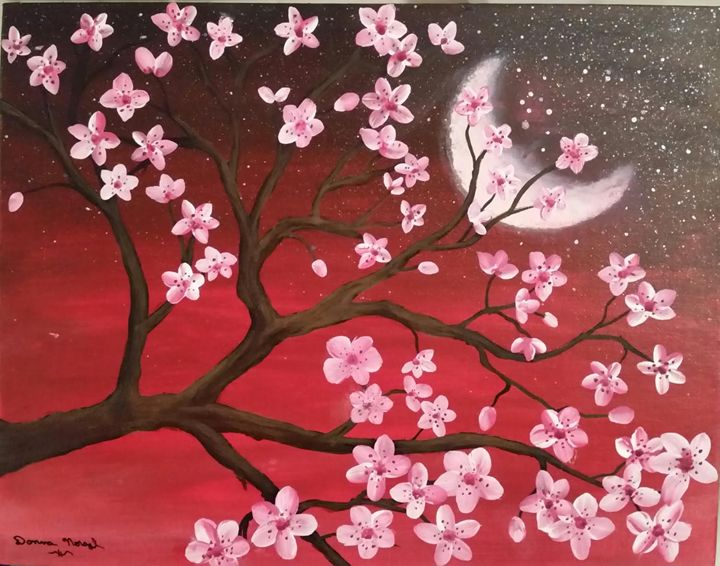 cherry blossom moon - Donna Norgel
