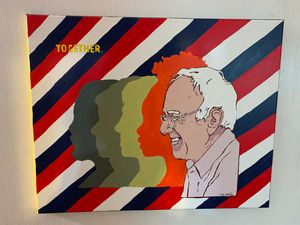 Bernie Sanders Hand Painted Art