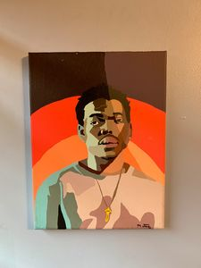 Chance the Rapper Hand Painted Art