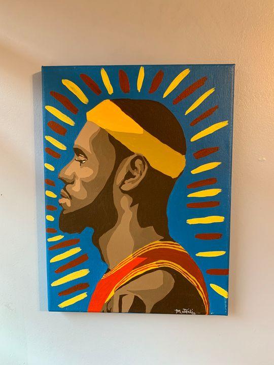 LeBron James Hand Painted Art - Matt's Portrait Art