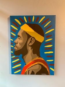 LeBron James Hand Painted Art