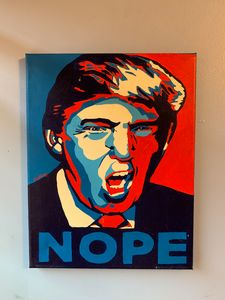 Anti-Trump Hand Painted 11x14 Canvas