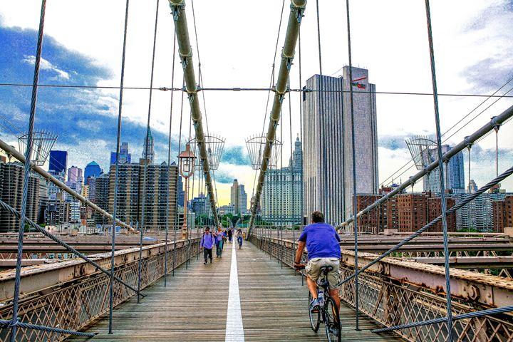 Crossing the Brooklyn Bridge - debchePhotography