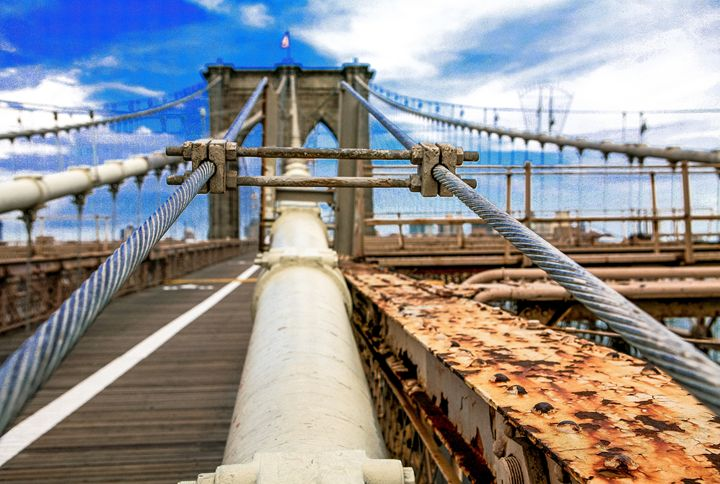 Brooklyn Bridge-Bolts and Cables - debchePhotography