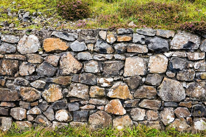 Stone Wall at Giants Causeway - debchePhotography