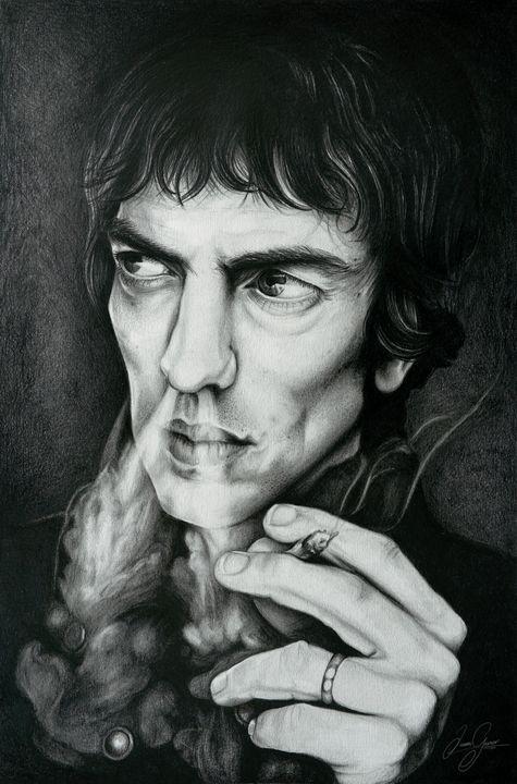 Richard Ashcroft Print - James Garner Portraits and Illustration