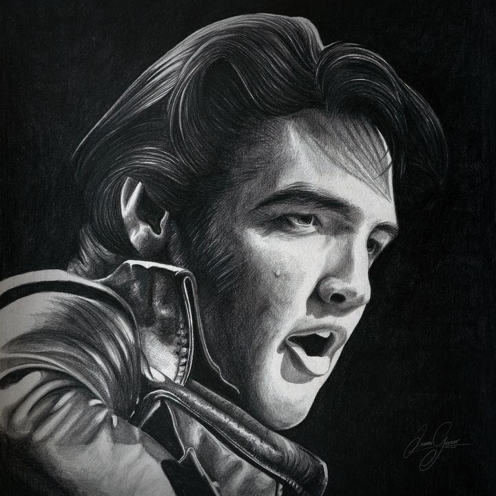 Elvis Print - James Garner Portraits and Illustration