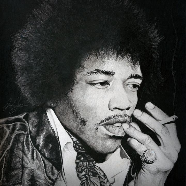 Jimi Hendrix Print - James Garner Portraits and Illustration