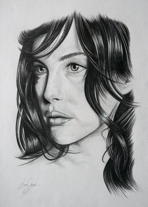 Liv Tyler Print - James Garner Portraits and Illustration