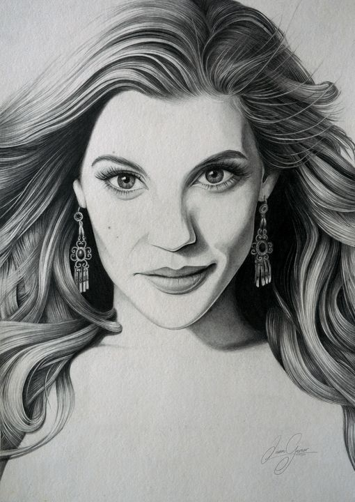 Katee Sackhoff Print - James Garner Portraits and Illustration