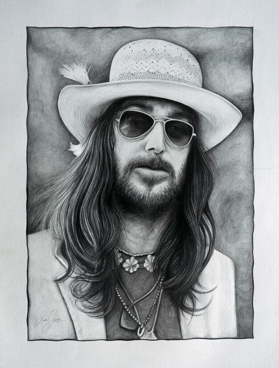 Chris Robinson (Black Crowes) Print - James Garner Portraits and Illustration