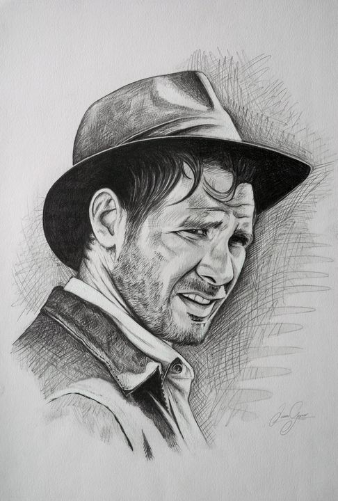 Indiana Jones Print - James Garner Portraits and Illustration