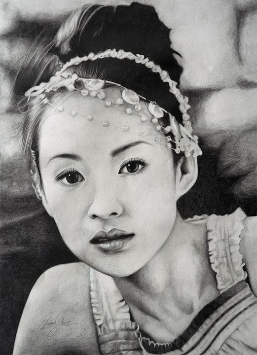Zhang Ziyi Print - James Garner Portraits and Illustration