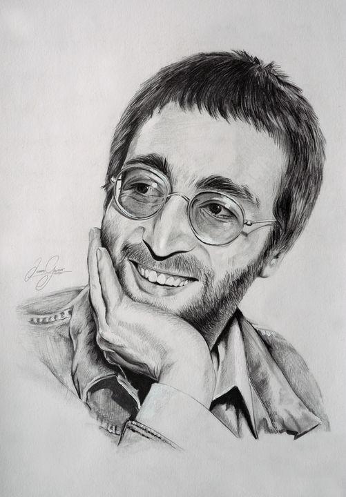 John Lennon Print - James Garner Portraits and Illustration